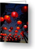 Queensland Photo Greeting Cards - Magic Lanterns For Buddha Birthday Greeting Card by Nikki Yetman