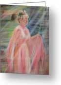 Magic Pastels Greeting Cards - Magic Mother Nature Greeting Card by Larry Whitler