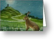 Tor Painting Greeting Cards - Magic of the Tor Greeting Card by Lisa OMalley