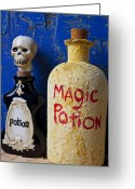 Poison Greeting Cards - Magic Potion Greeting Card by Garry Gay