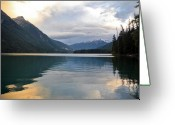 Reflection Pyrography Greeting Cards - Magic sunset at Birkenhead lake Greeting Card by Pierre Leclerc