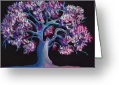Magic Pastels Greeting Cards - Magic Tree Greeting Card by Anastasiya Malakhova