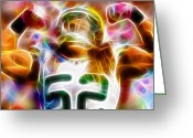 Bay Mixed Media Greeting Cards - Magical Clay Matthews Greeting Card by Paul Van Scott