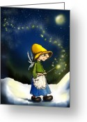 Snow Digital Art Greeting Cards - Magical Hope Greeting Card by Hank Nunes