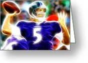 Qb Greeting Cards - Magical Joe Flacco Greeting Card by Paul Van Scott
