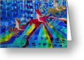 Thought-provoking Mixed Media Greeting Cards - Magical Life of Power Greeting Card by Lindsay Duff