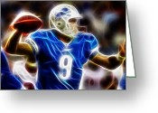 Qb Greeting Cards - Magical Matthew Stafford Greeting Card by Paul Van Scott