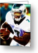 Philadelphia  Drawings Greeting Cards - Magical Michael Vick Greeting Card by Paul Van Scott