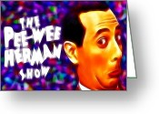 Pee Wee Herman Greeting Cards - Magical Pee Wee Herman Greeting Card by Paul Van Scott
