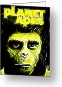 Planet Of The Apes Greeting Cards - Magical Planet of the Apes Greeting Card by Paul Van Scott