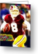 Qb Greeting Cards - Magical Rex Grossman Greeting Card by Paul Van Scott