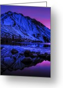 Mountain Laurel Greeting Cards - Magical Sunset over Mount Morrison and Convict Lake Greeting Card by Scott McGuire
