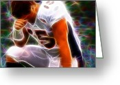 Qb Greeting Cards - Magical Tebowing Greeting Card by Paul Van Scott