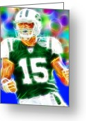 Ny Jets Greeting Cards - Magical Tim Tebow Greeting Card by Paul Van Scott