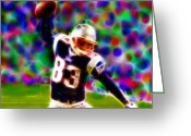 Td Greeting Cards - Magical Wes Welker  Greeting Card by Paul Van Scott