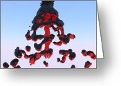 Balls Digital Art Greeting Cards - Magma Greeting Card by Andre Deherrera