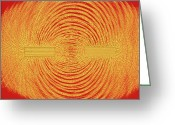 Flux Greeting Cards - Magnetic Field Around Bar Magnets Greeting Card by Pasieka