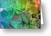 Air Mixed Media Greeting Cards - Magnification 5 Greeting Card by Angelina Vick