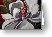 Magnolia Mixed Media Greeting Cards - Magnolia Grand Greeting Card by Vickie Warner