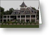 Veranda Greeting Cards - Magnolia Plantation Home Greeting Card by DigiArt Diaries by Vicky Browning