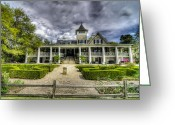 Veranda Greeting Cards - Magnolia Plantation Home Greeting Card by Drew Castelhano