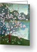 Magnolia Bloom Greeting Cards - Magnolia Greeting Card by Wilhelm List