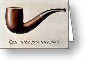 Pipe Greeting Cards - Magritte Images 1928-9 Greeting Card by Granger
