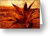 Calendar Greeting Cards - Maguey Agave Greeting Card by Juan Jose Espinoza
