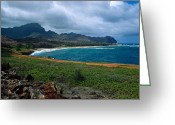 Beach Framed Prints Greeting Cards - Mahaulepu Beach Greeting Card by Kathy Yates