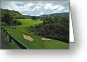 Caribbean Homes Greeting Cards - Mahogany Run Golf Course II Greeting Card by Kirsten Giving