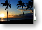 Tropical Photographs Greeting Cards - Mai ka aina Mai ke kai Kaanapali Maui Hawaii Greeting Card by Sharon Mau