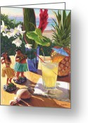 Cocktail Greeting Cards - Mai Tai Greeting Card by Steve Simon