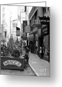 Maiden Greeting Cards - Maiden Lane San Francisco California - 5D19376 - Black and White Greeting Card by Wingsdomain Art and Photography