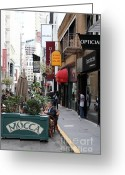 Maiden Greeting Cards - Maiden Lane San Francisco California - 5D19376 Greeting Card by Wingsdomain Art and Photography