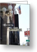 Maiden Greeting Cards - Maiden Lane San Francisco Greeting Card by Wingsdomain Art and Photography