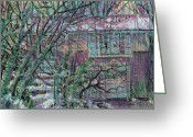 House Pastels Greeting Cards - Maier House Greeting Card by Donald Maier
