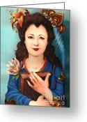 Maiko Greeting Cards - Maiko Greeting Card by Consuelo Venturi