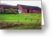 Pa Barns Greeting Cards - Mail Pouch 2 Greeting Card by Steve Harrington