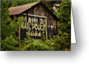 Barn Greeting Cards - Mail Pouch No 3 Greeting Card by Jeremy Martin