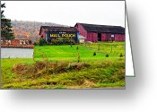 Pa Barns Greeting Cards - Mail Pouch Greeting Card by Steve Harrington