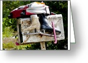 Dan Daulby Greeting Cards - Mailbox Skates Greeting Card by Dan Daulby