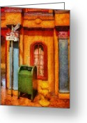 Thank You Greeting Cards - Mailman - No Parking Greeting Card by Mike Savad