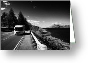 Campervan Greeting Cards - Main A82 Tourist Route Road Along The Shores Of Loch Linnhe Near Fort William Highland Highlands Sco Greeting Card by Joe Fox