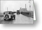 Carlisle Greeting Cards - Main Road Greeting Card by Fox Photos