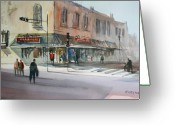 Market Greeting Cards - Main Street Marketplace - Waupaca Greeting Card by Ryan Radke