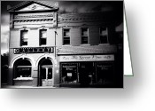 Blackandwhite Greeting Cards - Main Street Greeting Card by Natasha Marco