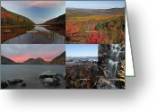 Desert Island Greeting Cards - Maine Acadia National Park Landscape Photography Greeting Card by Juergen Roth