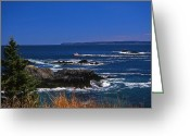 Surf Photos Art Greeting Cards - Maine At West Quoddy Greeting Card by Skip Willits