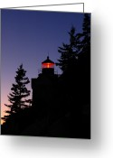 Bass Harbor Greeting Cards - Maine Lighthouse Greeting Card by Juergen Roth