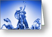 York Maine Greeting Cards - Maine Monument  in Blue Greeting Card by Mike McGlothlen